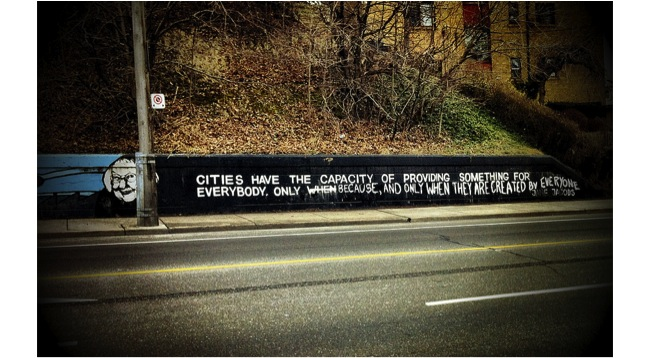 pic five - Jane Jacobs graffiti